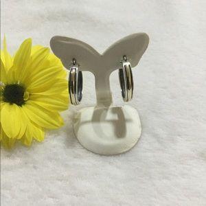 925 Sterling Silver and 10k gold hoop earrings